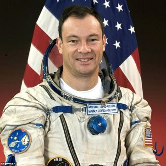 Under command: NASA and Space Shuttle veteran Michael Lopez-Alegria are pilots and a new four-seater crew dragon with one unfilled tourist destination.