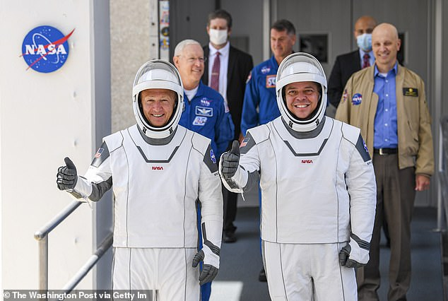 Historical: NASA astronauts Douglas Harley and Robert Benken in specially designed crew dragon spacesuits have returned to space for the first time since their launch in the United States since 2011.