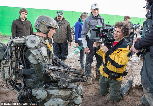 Friends: 58-year-old Cruz and 55-year-old Liman collaborate on an American-made movie (pictured) released in 2017 and Edge of Tomorrow in 2014 to share their passion for airplanes.