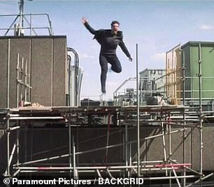 In 2016, the actor broke his ankle while jumping from rooftop to rooftop in the London location set Mission: Impossible-Fallout.