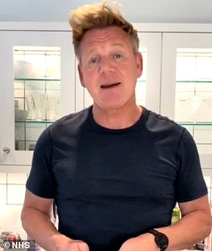 Paramount: The new app appeared at a critical time for the UK, with Covid-19 cases increasing daily (Gordon Ramsay photo).