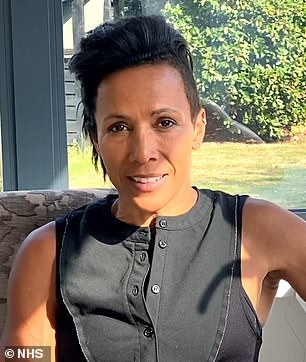 Important: Kelly Holmes created an unusual look to promote the message