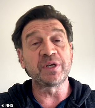 Famous Face: Nick Knowles also participated in the initiative