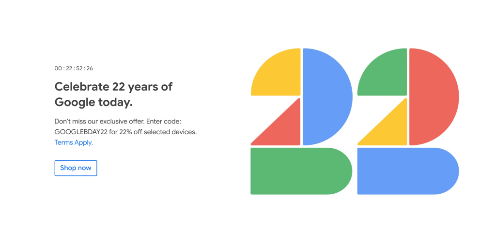 Google Store celebrates company birthday in some countries