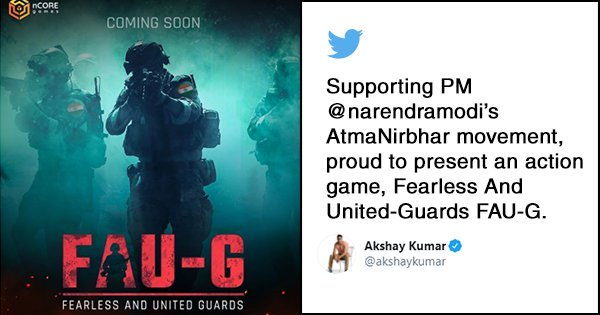 Two days after the PUBG ban, Akshay Kumar will launch a new game called FAU-G. What idea sir g