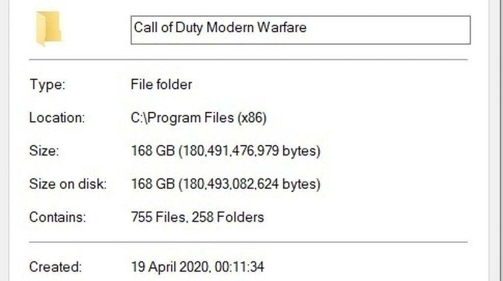 Modern Warfare on PC reduced from 231GB to 168GB • Eurogamer.net