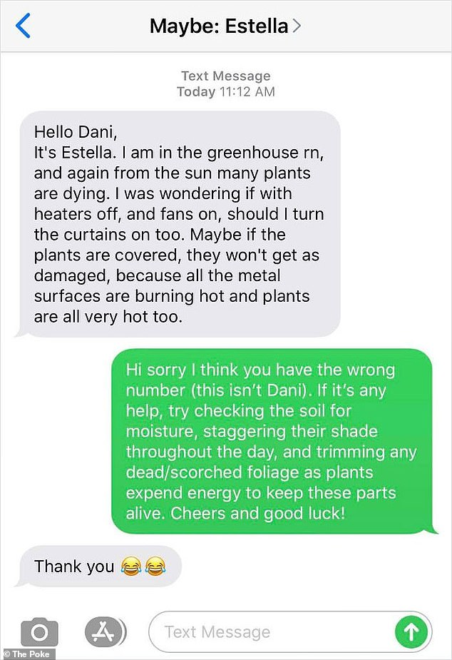 Pork has put together a selection of weird wrong numbered text exchanges that have spread through word of mouth on the Internet, including one who was asked for gardening advice.