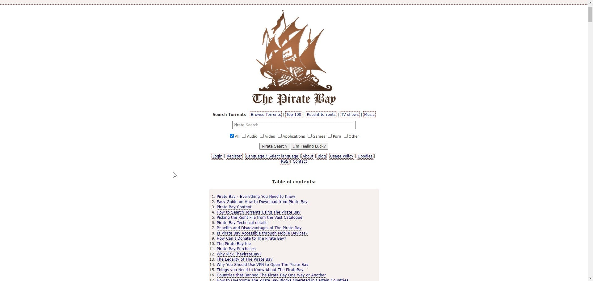 Pirate Bay Best Rapids Website For Software