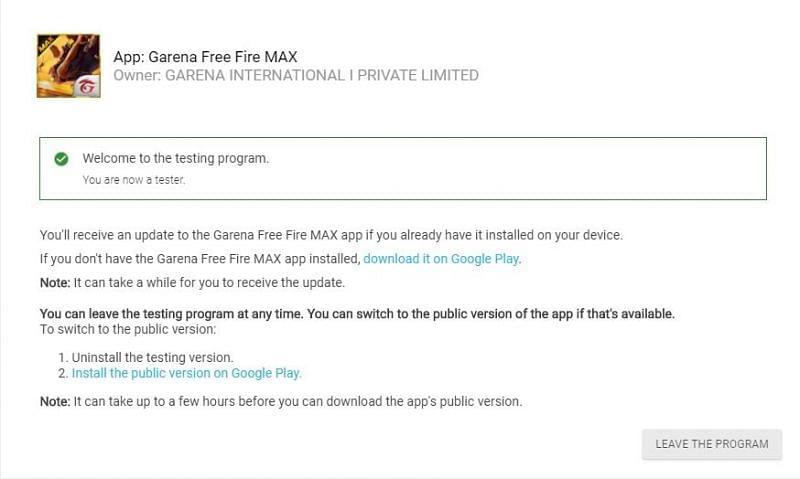 Free FireMax Beta Test