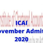 ICAICA November Admit Card 2020 to be produced on icai.org on November 1st-Simply click in this article to down load