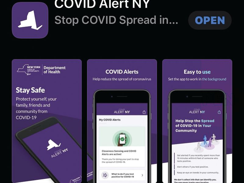 Over 500,000 downloads of the Covid Alert NY app