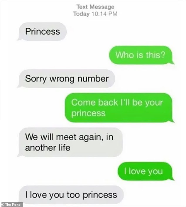 Blind date!The man looking for a princess promised to meet the mysterious owner of the number who sent the text message in another life