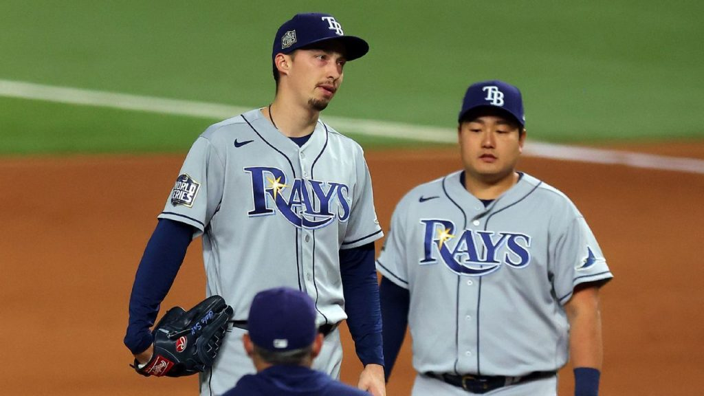"""Tampa Bay Rays' """"Blake Snell"""" was an early hook in Game 6 and was """"disappointed, upset."""""""