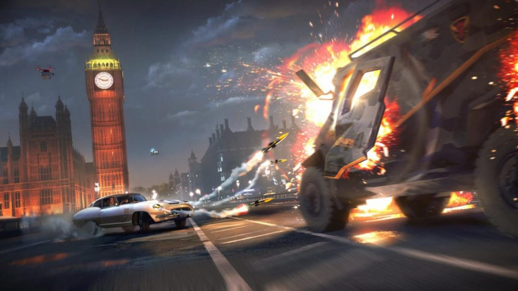 Watch Watch Dogs Legion glitches fill London with flying cars, cyborgs, and ghosts