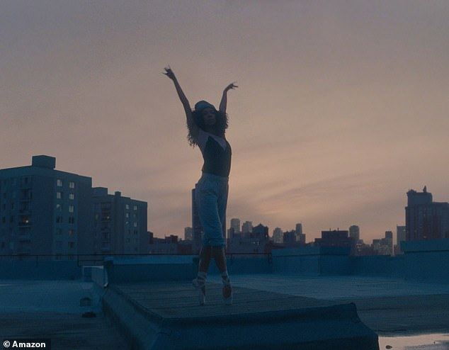 You can see ballerinas dancing around the city as she tries to practice after the Covid-19 crisis cancels her performance
