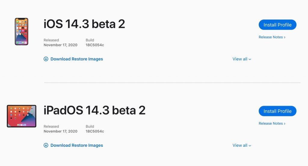 iOS 14.3 and iPadOS 14.3 beta 2 now available for download