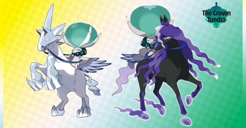 Pokemon Sword and Shield officially reveals Glastrier and Spectrier