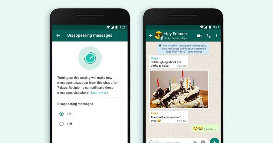 WhatsApp launches new disappearing message option