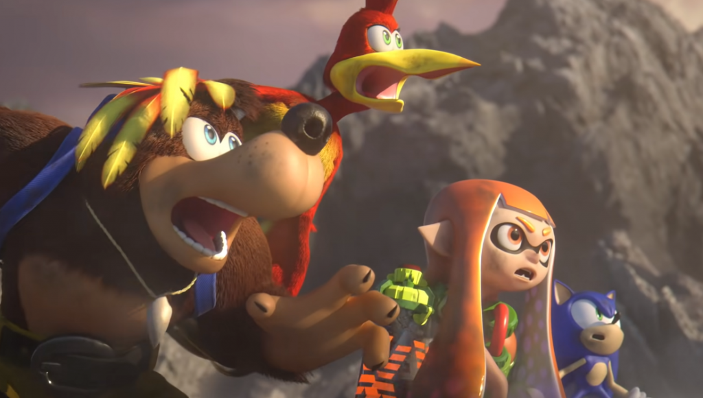 Banjo and Kazooie creators share his thoughts as Sephiroth sees the duo react when he arrives at Smash Brothers Ultimate