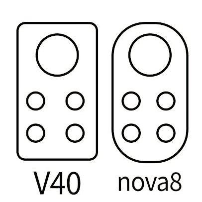 Honor V40 and Nova 8 series camera design
