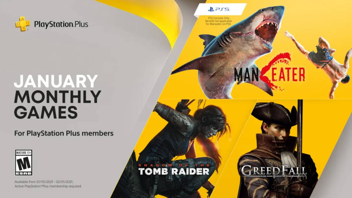 PS Plus January 2021 Video Games
