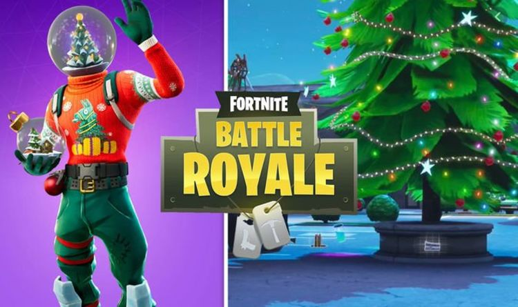 Fortnite dance at holiday trees - Christmas tree locations for NEW Snowdown challenge