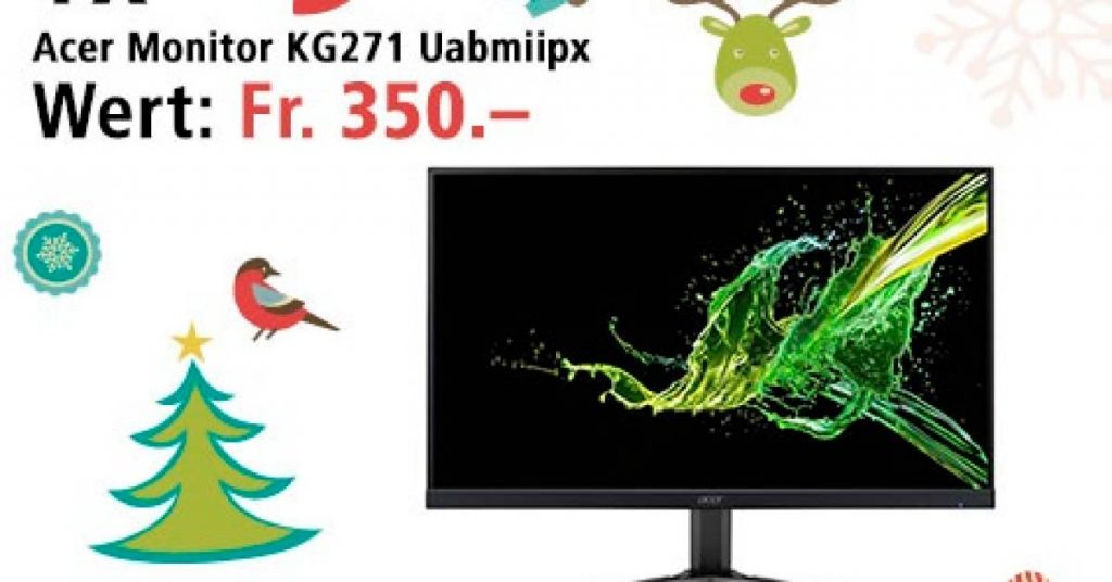 Win an Acer Gaming Monitor on December 22