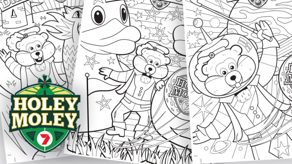 Christmas Coloring: Download Free Home Print Holey Moley Fun for Kids
