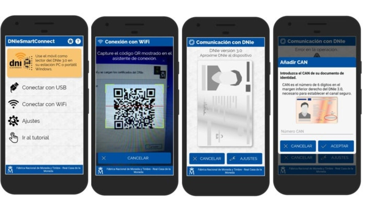 Read DNI 3.0 with the mobile