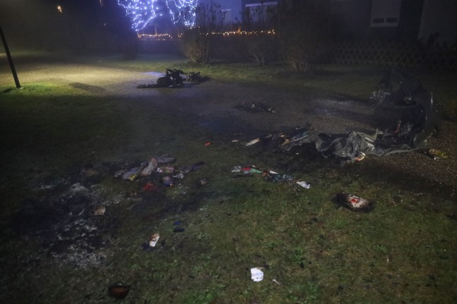 Fires: litter islands and waste containers set on fire in Wels-Lichtenegg