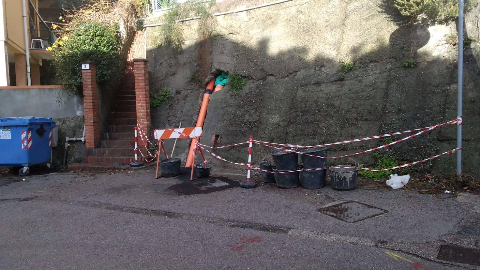 sewage through Turati