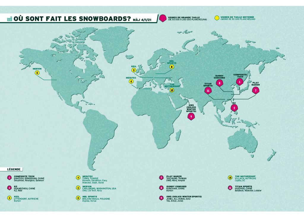 Where are our snowboards made?