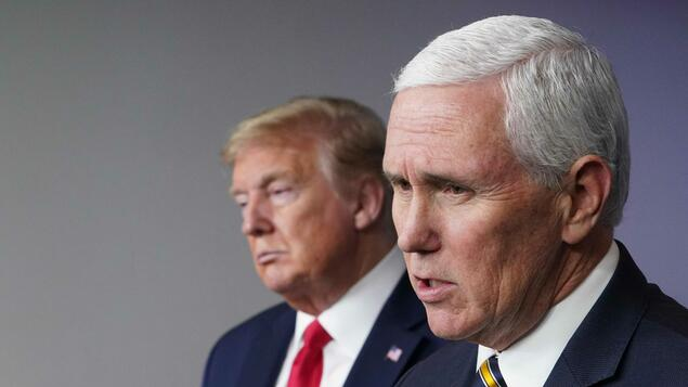 First conversation after storm on Capitol Hill: Trump's vice president Mike Pence sticks with his boss - politics