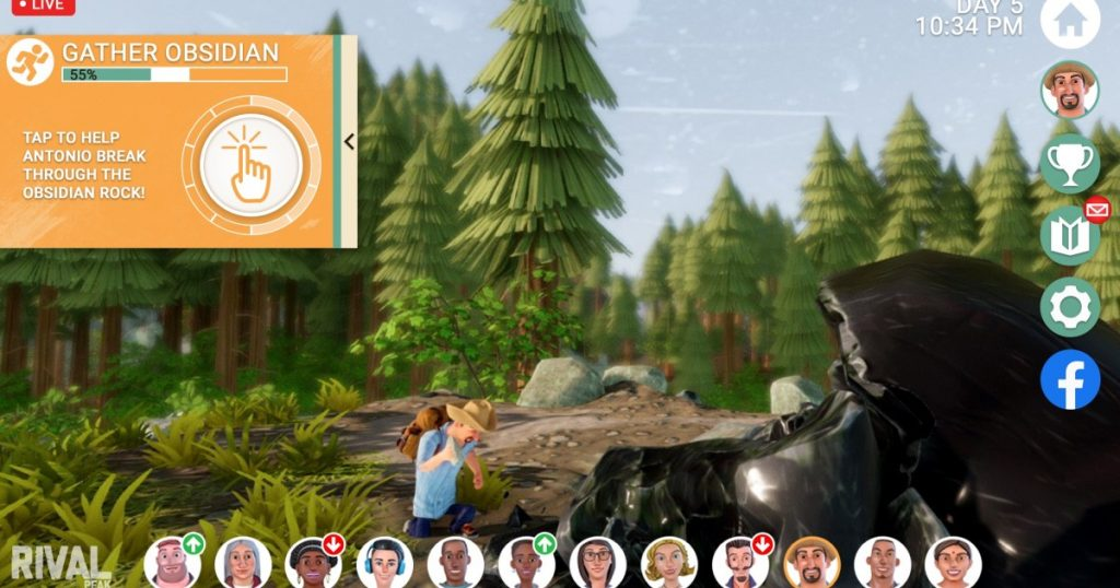 """""""Rival Peak"""": Reality TV meets video games ... on Facebook?"""