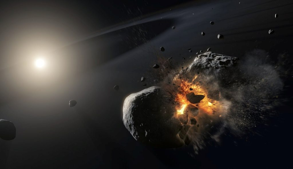 The rumors of the collision of an asteroid with the Earth invade the communication sites