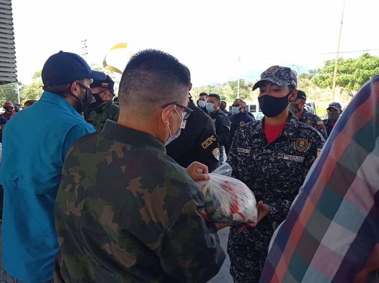They equipped security officials with uniforms and food