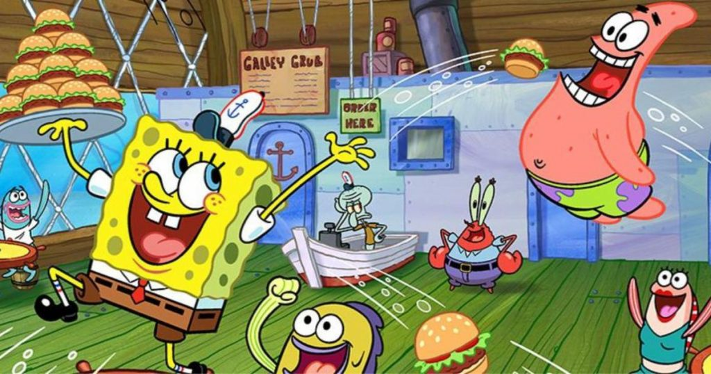Dive into the world of sponge bob square pants with a 360 degree YouTube video