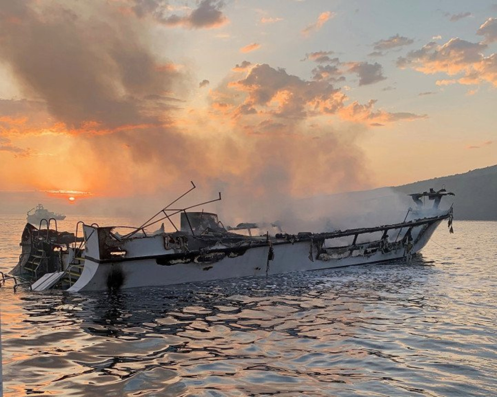 Captain pleads not guilty of diving boat fire