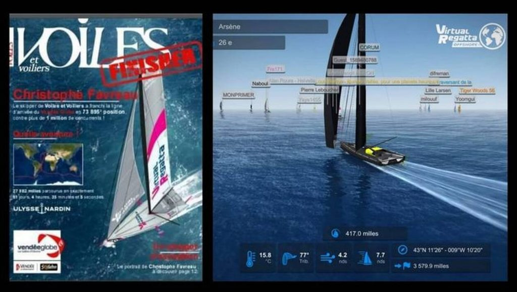 Virtual Regatta players, enter your name on the cover of Voiles et Voiliers!