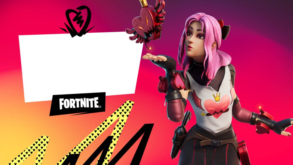Fortnite Valentine's card, where to download them?  - Breakfast