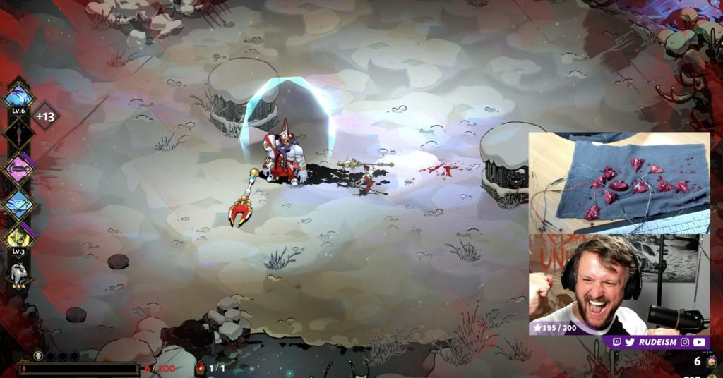 Streamer used the literal pomegranate controller to complete the sweet and juicy Hades run.