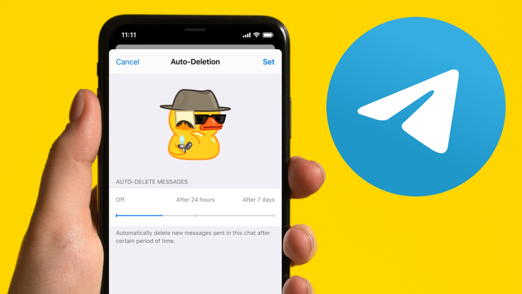Telegram update: messages are now automatically deleted