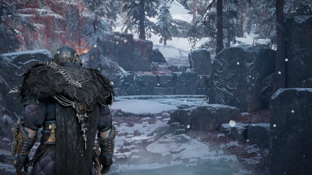 You can turn Assassin's Creed Valhalla into God of War by changing your field of view