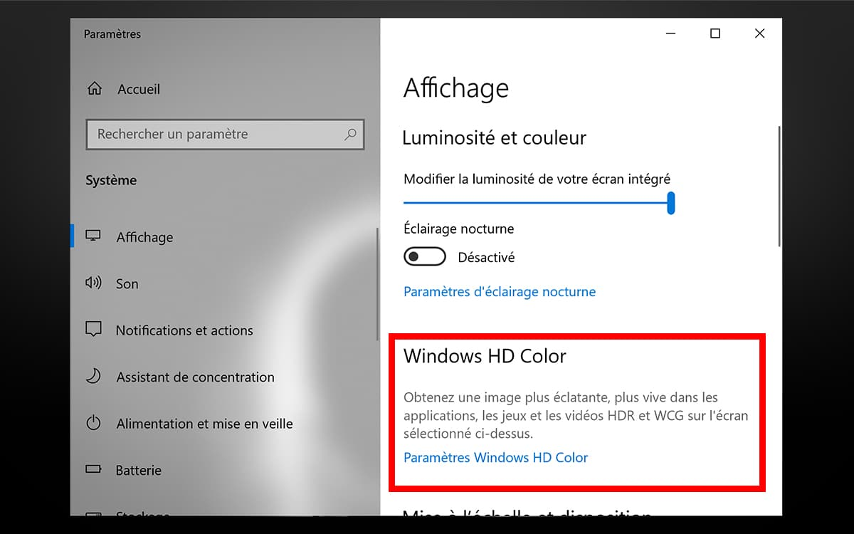 Windows 10 automatically enables HDR
