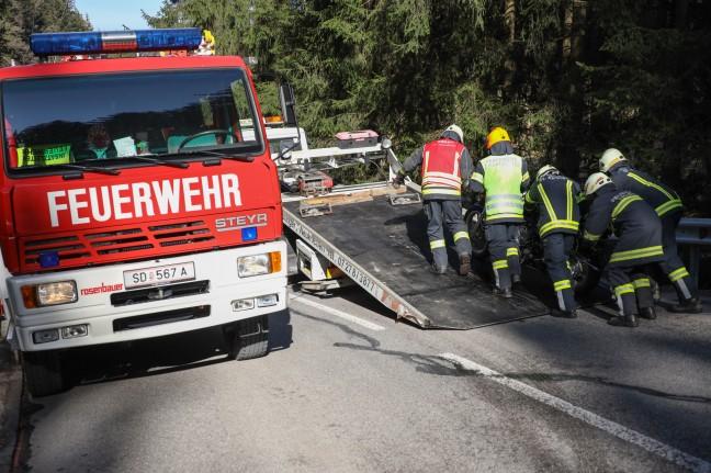 Fatal traffic accident involving a motorcycle near St. Aegidi