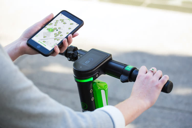 Lime activates app snippets to rent scooters faster