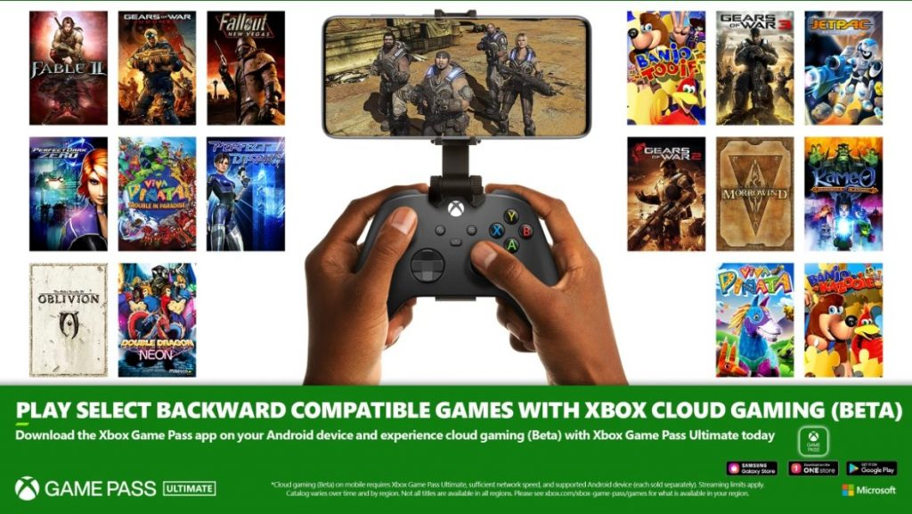 xCloud now includes Xbox and 360 games in backward compatibility