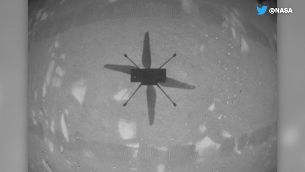 This is how the Ingenuity Helicopter flew on Mars