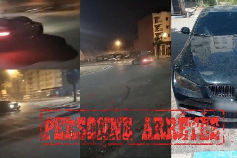 سياقة استعراضية تسقط شخصا في يد الشرطة