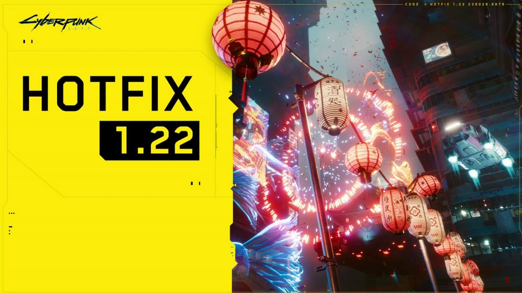 Cyberpunk 2077 Update Details 1.22 Now Downloadable |  Xbox one